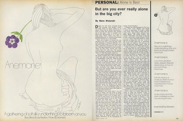 Article Preview: Personal: Alone is Best, November 1977 | Vogue