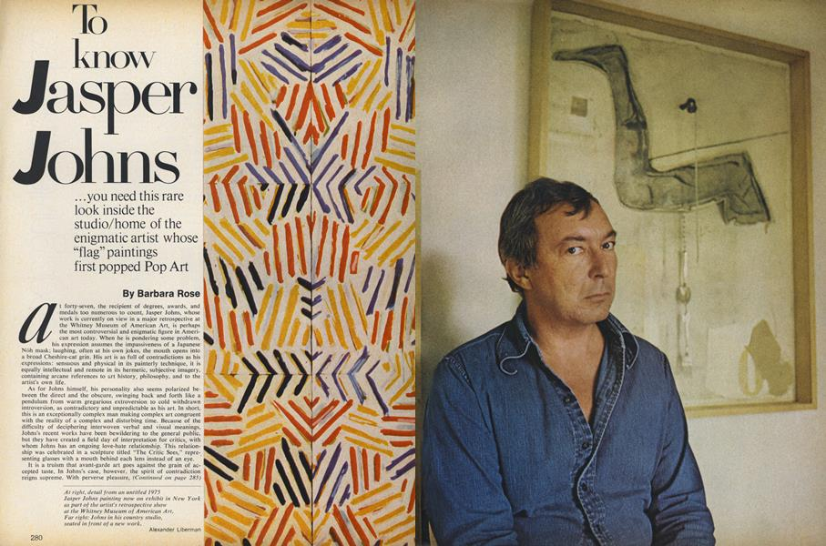 To Know Jasper Johns