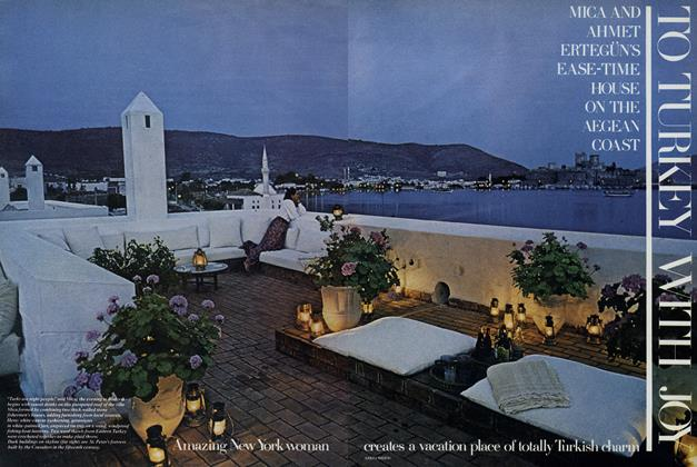 Article Preview: To Turkey with Joy: Mica and Ahmet Ertegun's Ease-time House on the Aegean Coast, December 1977 | Vogue