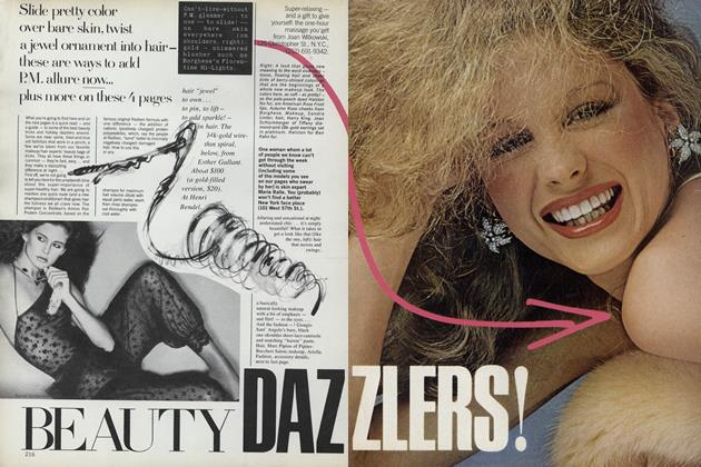 Article Preview: Beauty Dazzlers!, December 1977 | Vogue
