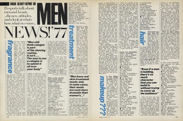 Article Preview: Vogue Beauty Report on Men, December 1977 | Vogue