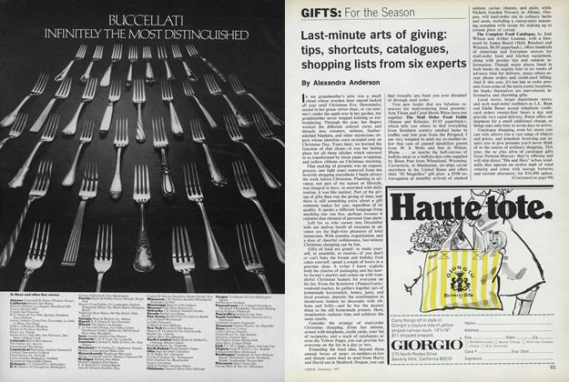 Article Preview: Gifts or the Season: Last Minute Arts of Giving, December 1977 | Vogue