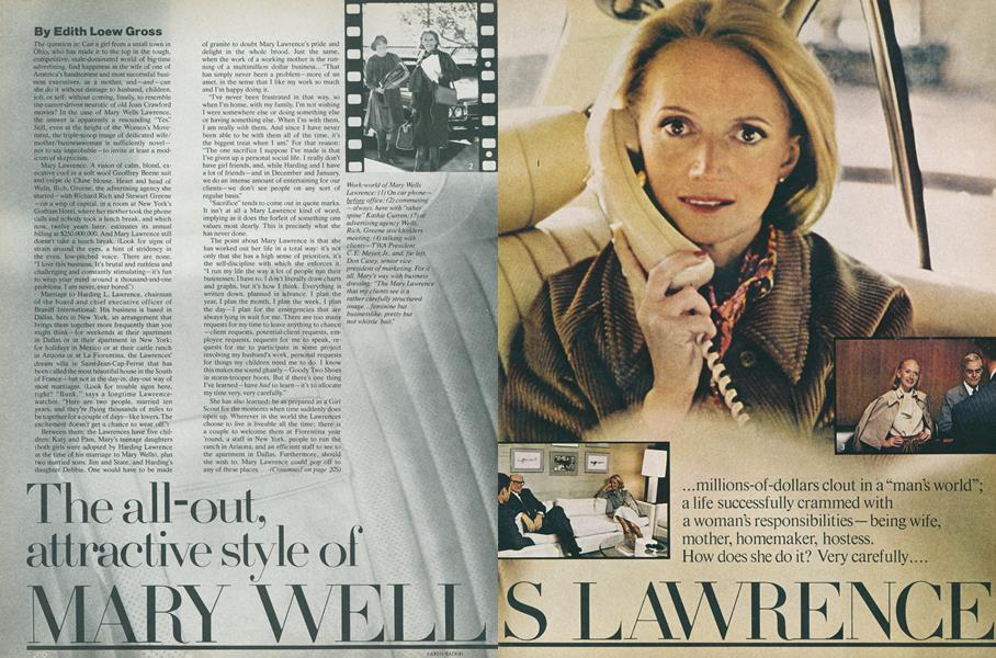 The All-out Attractive Style of Mary Wells Lawrence