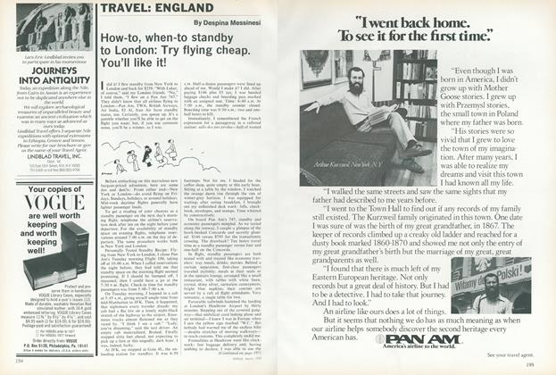 Article Preview: Travel: England, March 1978 | Vogue
