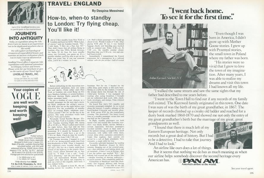 Travel: England