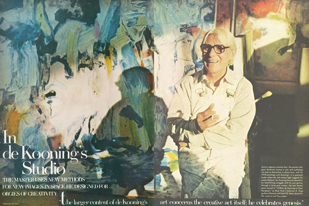 Article Preview: In de Kooning's Studio, April 1978 | Vogue