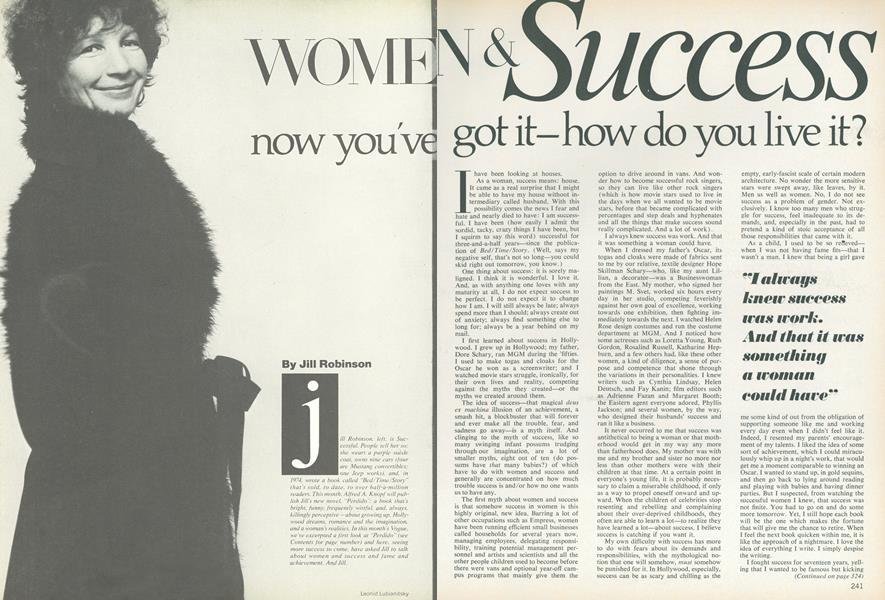 Women & Success: Now You've Got It—How Do You Live It?