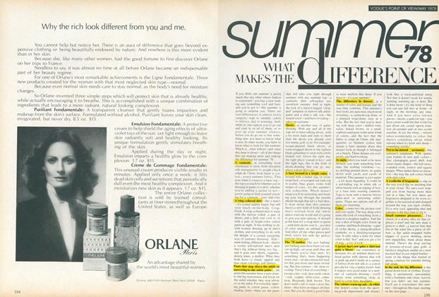 Article Preview: Summer '78: What Makes the Difference, May 1978 | Vogue