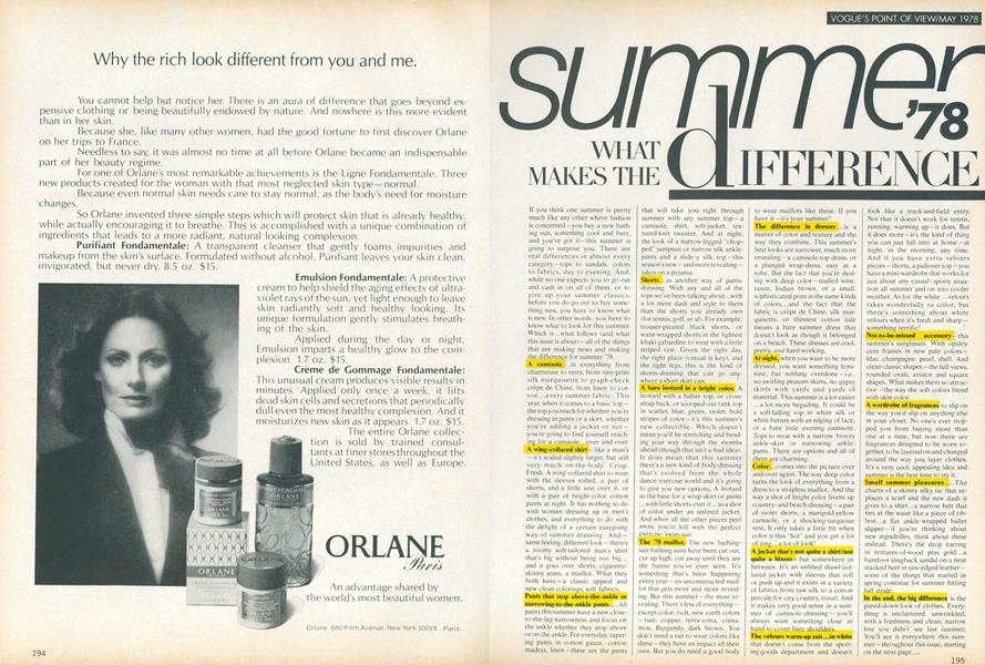 Summer '78: What Makes the Difference