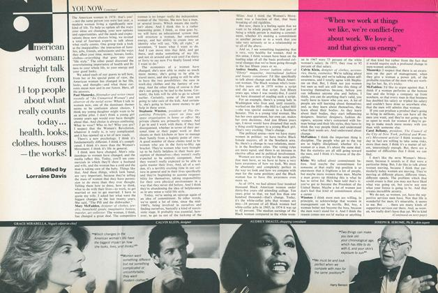 Article Preview: American Woman: Straight Talk from 14 Top People About What Really Counts Today..., June 1978 | Vogue