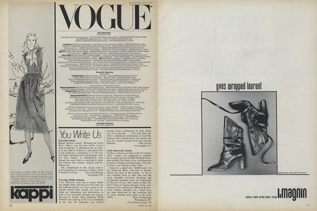 Article Preview: You Write Us, July 1978 | Vogue