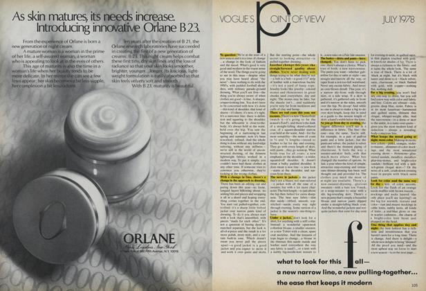 Article Preview: What to Look for This Fall..., July 1978 | Vogue