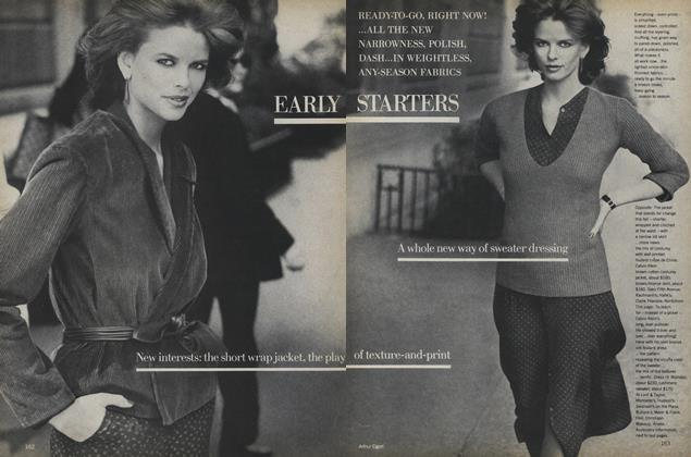 Article Preview: Early Starters, July 1978 | Vogue