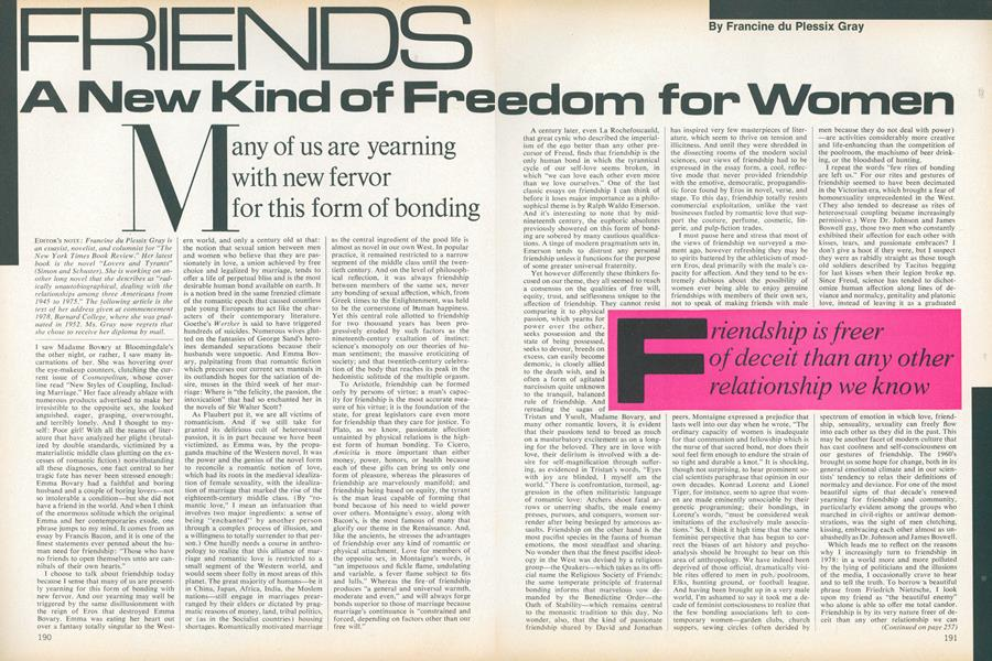 Friends: A New Kind of Freedom for Women