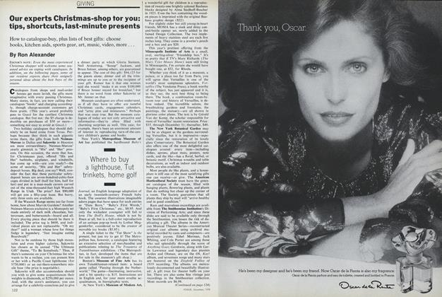 Article Preview: Giving: Our Experts Christmas-Shop for You, December 1978 | Vogue