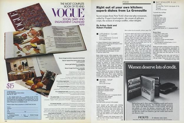 Article Preview: Right Out of Your Own Kitchen: Superb Dishes from La Grenouille, December 1978 | Vogue