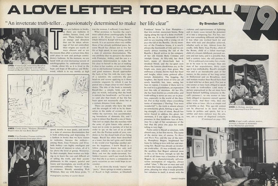 A Love Letter to Bacall