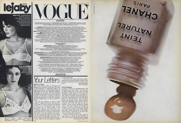 Article Preview: Your Letters, February 1979 | Vogue