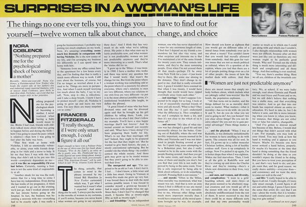 Article Preview: Surprises in a Woman's Life, February 1979 | Vogue
