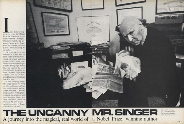 Article Preview: The Uncanny Mr. Singer. A Journey into the Magical, Real World of a Nobel Prize-winning Author., April 1979 | Vogue