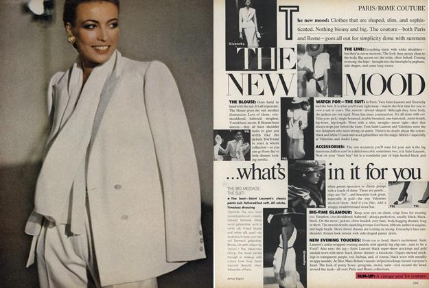 Article Preview: Paris/Rome Couture: The New Mood...what's in it for you, April 1979 | Vogue