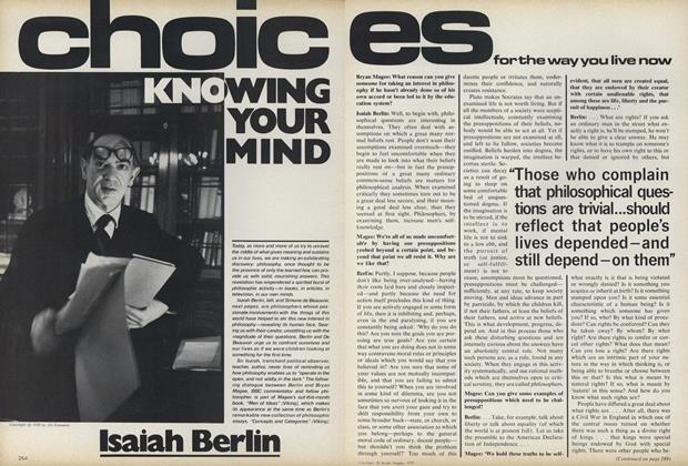 Article Preview: Choices for the Way You Live Now: Knowing Your Mind, May 1979 | Vogue