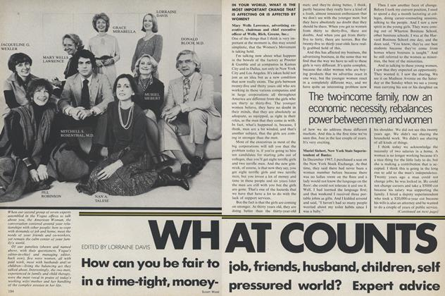 Article Preview: What Counts: Seven Experts Talk about Coping with Job, Friends, Husband, Children, Self, June 1979 | Vogue