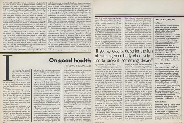 Article Preview: What Counts: On Good Health, June 1979 | Vogue