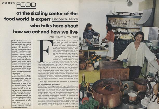 Article Preview: What Counts: Barbara Kafka–How We Eat and How We Live, June 1979 | Vogue
