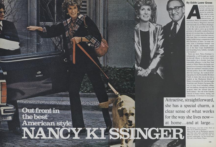 Nancy Kissinger: Out Front in the Best American Style