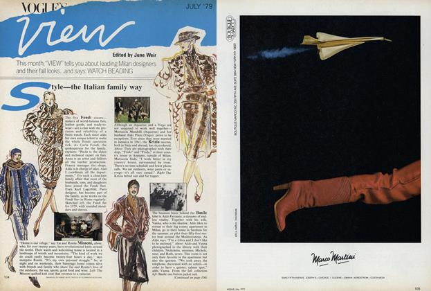 Article Preview: Leading Milan Designers and their Fall Looks/Watch Beading..., July 1979 | Vogue