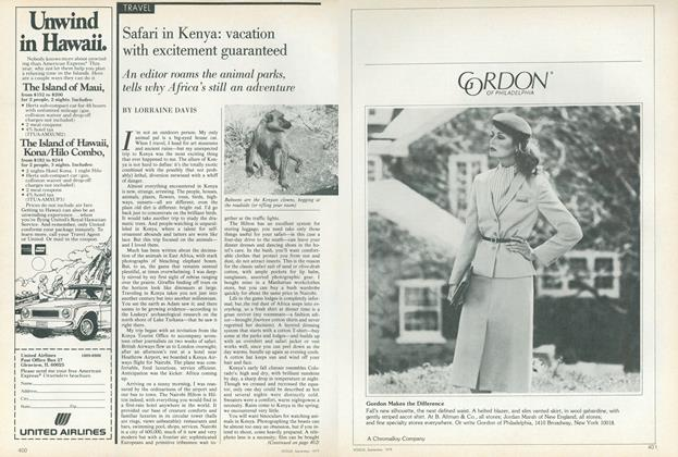 Article Preview: Safari in Kenya: Vacation with Excitement Guaranteed, September 1979 | Vogue