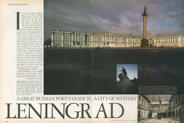 Article Preview: Leningrad: A Great Russian Poet's Guide to a City of Mystery, September 1979 | Vogue