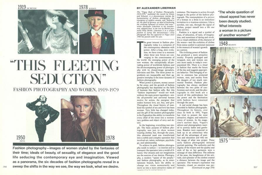"""This Fleeting Seduction"", Fashion Photography and Women, 1919-1979"