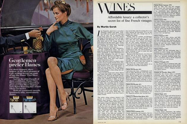 Wines. Affordable luxury: a collector's secret list of fine French vintages