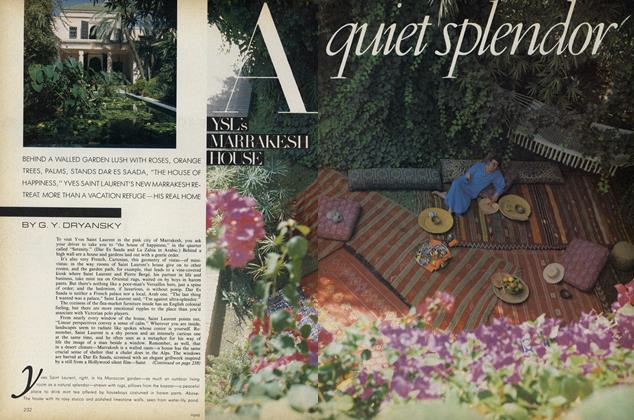 A Quiet Splendor. YSL's Marrakesh House