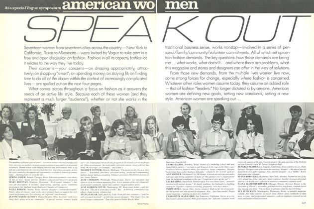 At a Special Vogue Symposium: American Women Speakout