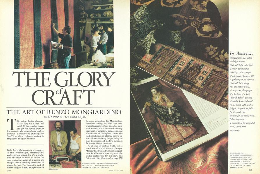The Glory of Craft: The Art of Renzo Mongiardino