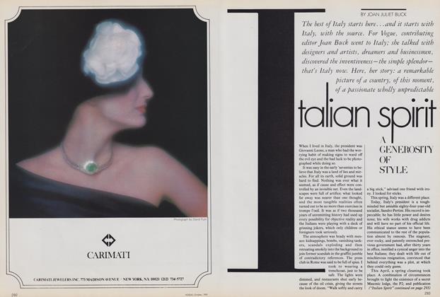 Italian Spirit: A Generosity of Style