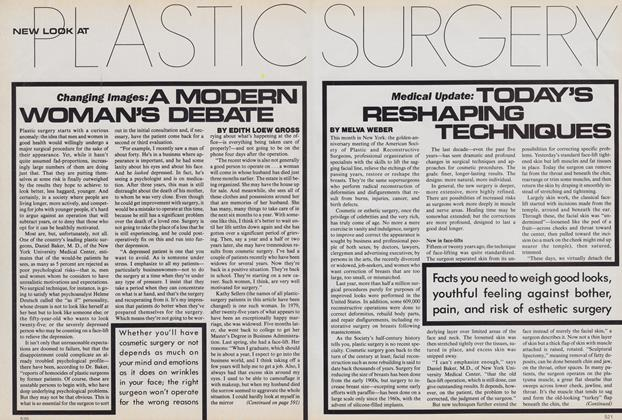 New Look at Plastic Surgery: Changing Images: A Modern Woman's Debate