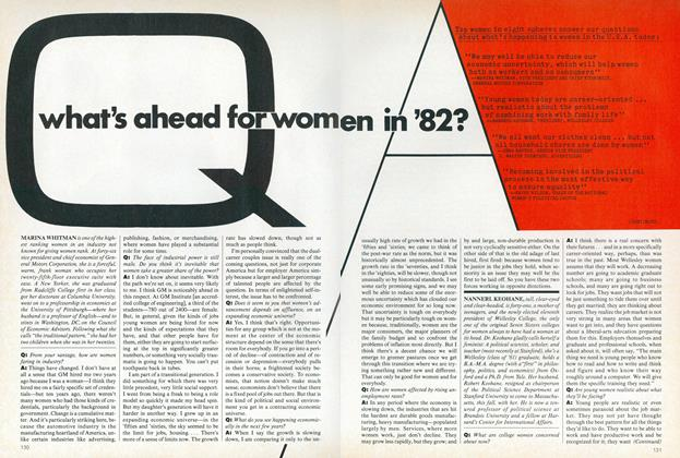 Article Preview: What's Ahead for Women in '82, January 1982 | Vogue