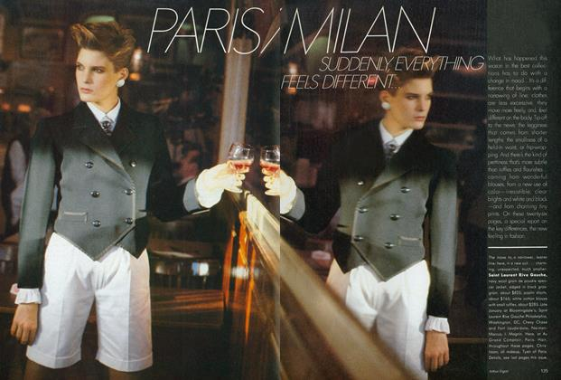 Article Preview: Paris/Milan: Suddenly, Everything Feels Different, January 1982 | Vogue