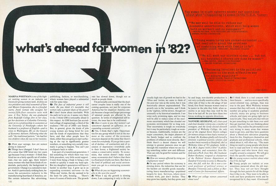 What's Ahead for Women in '82
