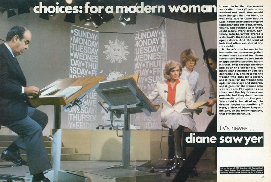 Choices for a Modern Woman: Diane Sawyer—TV's Newest