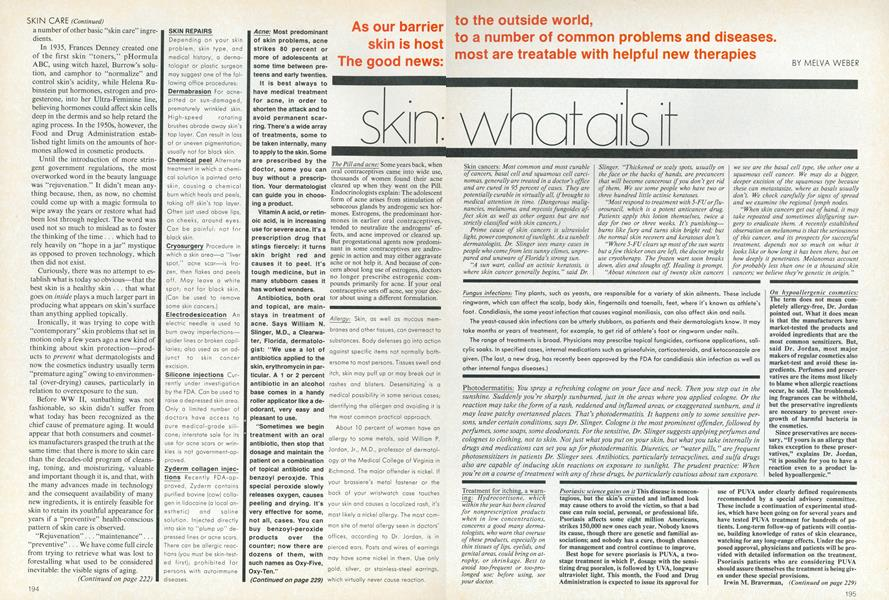Your Best Skin Ever: Skin—What Ails It