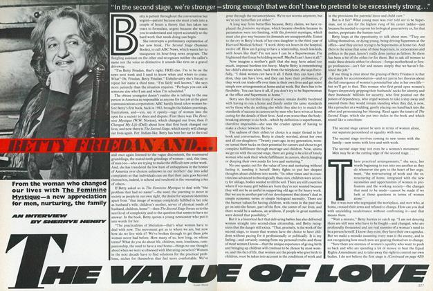Betty Friedan and...the Value of Love