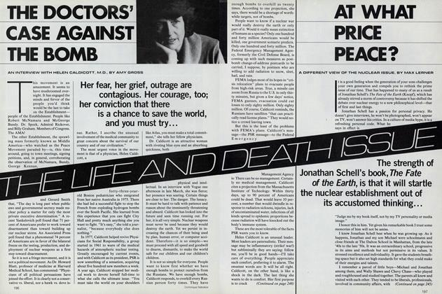 The Life and Death Issue: The Doctors' Case Against the Bomb
