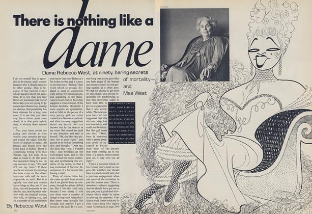 There IS Nothing Like A Dame: Dame Rebecca West