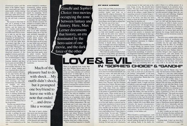 """Love & Evil in """"Sophie's Choice"""" & """"Gandhi"""""""