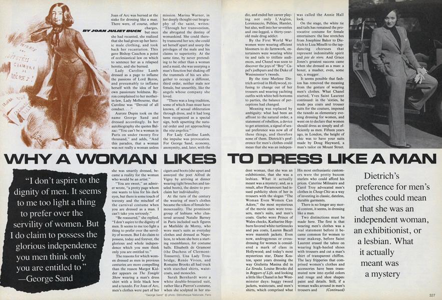 Why a Woman Likes to Dress Like a Man